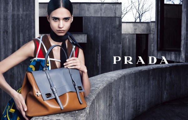 Prada-Grey:tan bag FallWinter-2014-Ad-Campaign-7-600x384