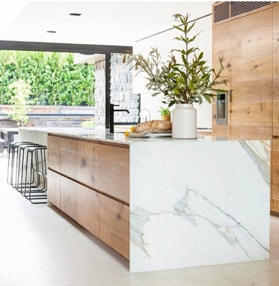 marble kitchen 2, wood and marble