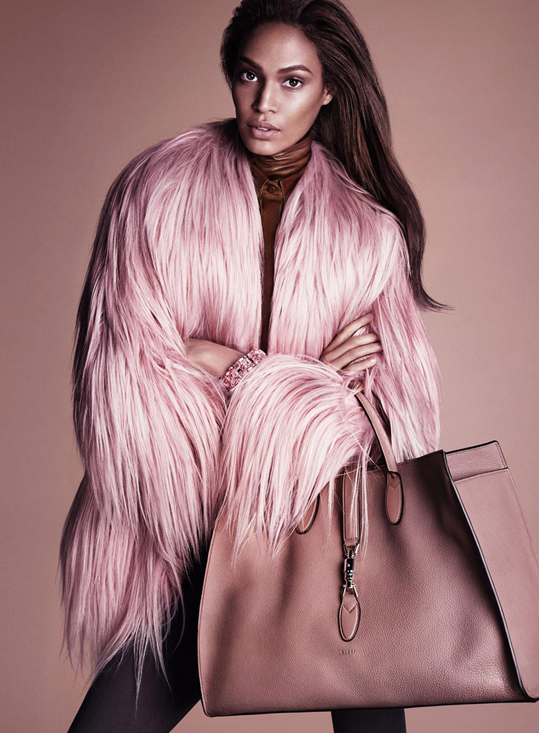 pink bag ,joan-smalls-gucci-fall-winter-2014-2015-1