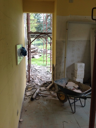 This was the back door and will be bricked up.
